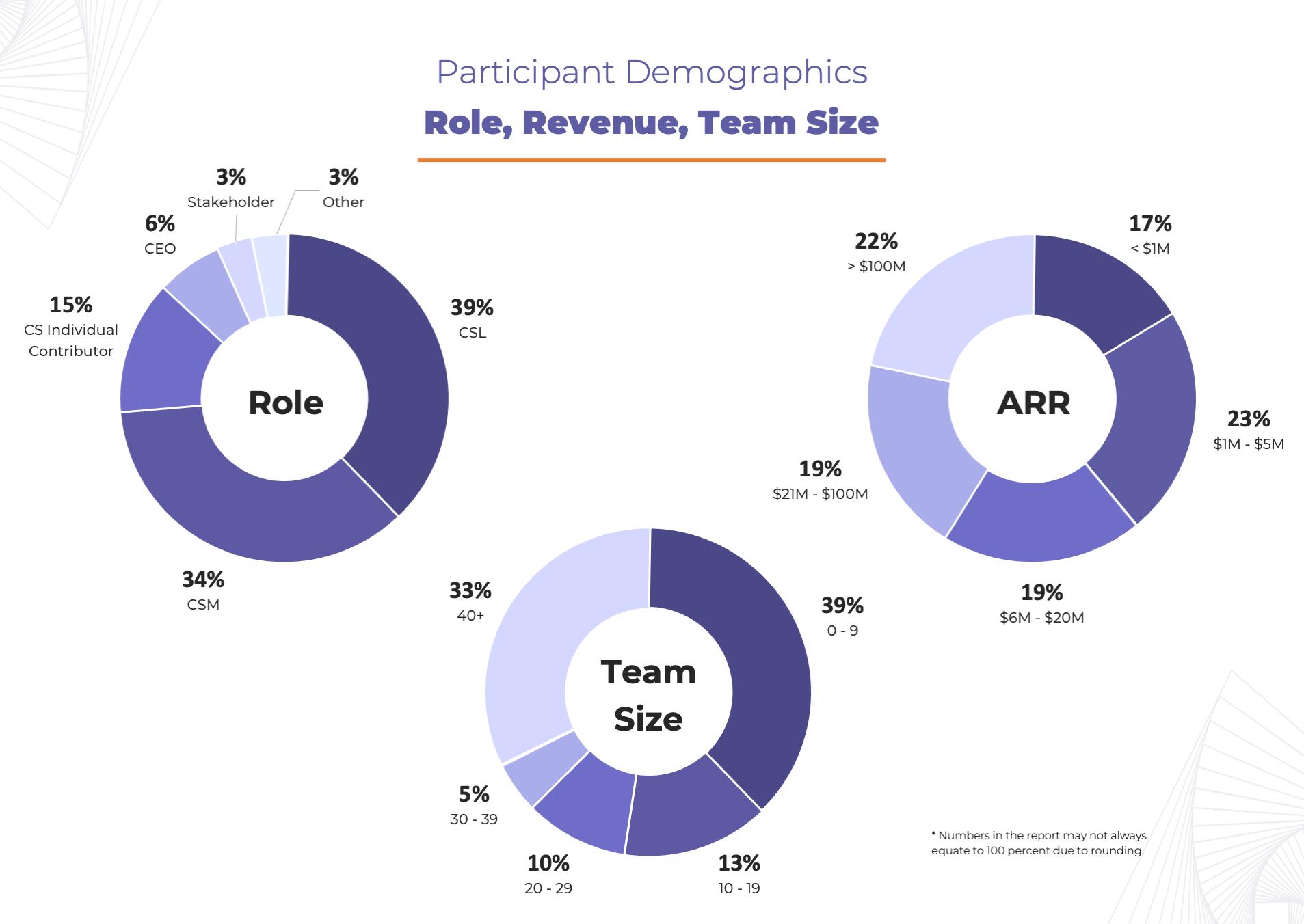 Participant Demographics Role, Revenue, Team Size